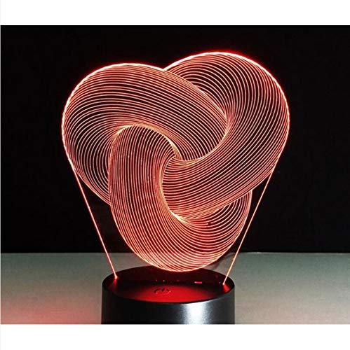 nachtlicht licht lampe 3D Abstract Graphics Nachtlampe Touch 7 Farbwechsel Acryl Tischlampe Nachttischlampe Dekorative Lava Lampe Für Kinder