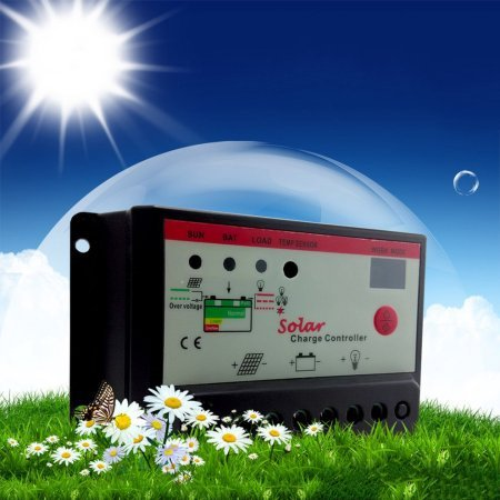 Controlador solar panel solar controlador de carga 10A 12V 24V cmt-10a
