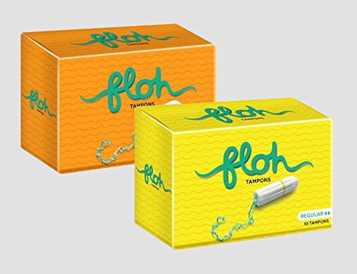 FLOH FDA Approved Regular + Super Tampons Normal/Heavy Flow Pack of 2 (20 Pieces)