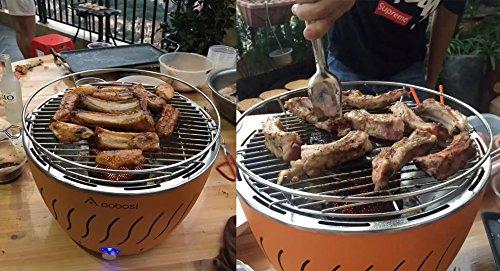 Aobosi Rauchfreier Holzkohlegrill : Aobosi edelstahl tragbar rauchfreie holzkohlegrill grill u2026 alles