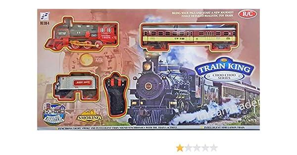Rail King Classic Train Track Set Kids Fun Jeu Jouet à piles avec lumière