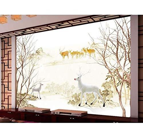 CHI Tapete 3D Wallpaper Moderne Einfache Kulisse Gemalt Dekorative Malerei Lebende 3D Tapete, 430 * 300Cm -