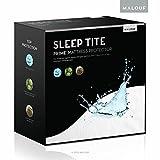 Sleep Tite von Malouf Hypoallergen 100% wasserdicht Matratze) Reifenmuster/15Jahre Garantie, weiß, Volle Größe