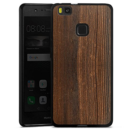 DeinDesign Silikon Hülle kompatibel mit Huawei P9 Lite (2016) Case Schutzhülle Nussbaum Holz Look -