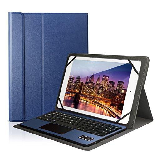 "lenovo tablet con tastiera Feelkaeu Tastiera Bluetooth 3.0 QWERTY Italiano e Touchpad con PU Ultrathin Custodia Compatibile con 9.6""/9.7""/10.1"" Qualsiasi Android/Windows Tablet(Samsung/ASUS/HUAWEI/LENOVO)"
