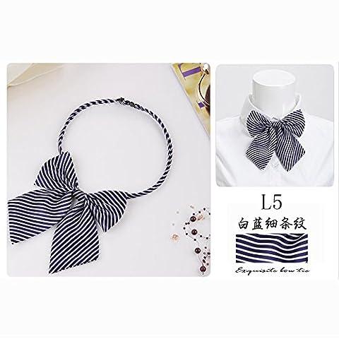 Professional attire overalls Round dot uniform tie Lady student Bow