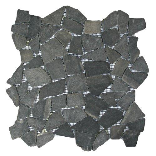 Grau Mosaik Tile 1FT². (Mesh montiert) -