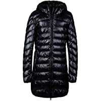 Santimon Womens Winter Outwear Packable Down Jacket Long Lightweight Hooded Coat 7 Color Available