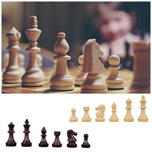 YoungRich-Schachbrett-Magnetisch-Wooden-Schachspiel-Set-Deluxe-Faltbare-Schachbrett-Interieur-Lagerung-Reise-Urlaub-Wochenende-31-x-31-x-2-cm-Spielbrett