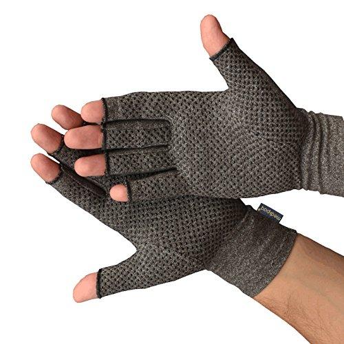 Guantes Anti-Artritis Medipaq® (Par) – Ofrecen Calor Y Compresión Para Ayudar A Aumentar La Circulación Reduciendo El Dolor Y Promover La Sanación (1 Par Con Agarre (Mediano))