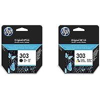 HP 303 Pack de 2 Cartouches d'encre Authentiques Noire/Trois Couleurs
