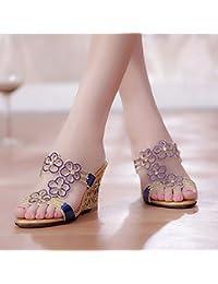 Mujer De Zapatos es Amazon Tacón Chanclas Baño Para RqvZOwfZ