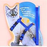 MUNCHOS Cat Harness Leash Set, Nylon, 22-36 cm/10 mm, 1,20 m (Colour May Vary).