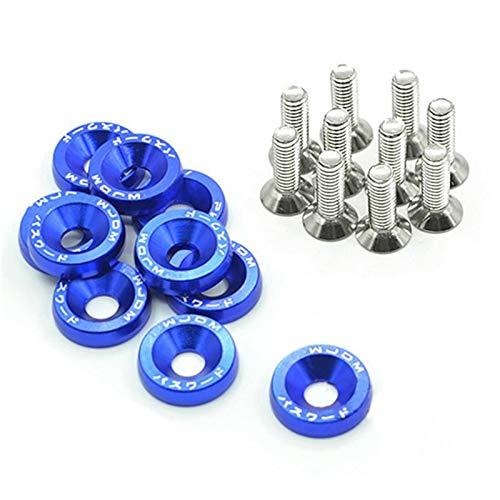 (Ambility 20 Stück Auto Billet Aluminium Stoßstange Waschmaschine Edelstahl Schrauben Motor Kit)