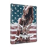 American Hot Nude Girl Eagle Flying High USA Flag Dünne Rückschale aus Hartplastik für iPad 2 & iPad 3 & iPad 4 Tablet Hülle Schutzhülle Slim Fit Case Cover