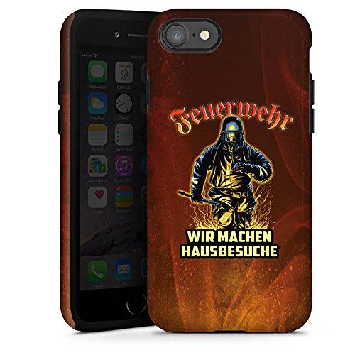 Apple iPhone SE Stand Up Hülle Case Cover mit Standfunktion Feuerwehrmann Spruch Feuerwehr Tough Case glänzend