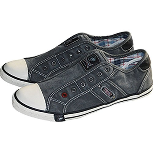 Tysonz American Refrigeratori Estate Sneakerz Scarpe senza Stringhe Antracite 37-46 NUOVO - Antracite, 42 EU