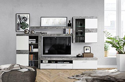 Wohnwand – NEWFACE  inklusive LED-Beleuchtung Holz kaufen  Bild 1*