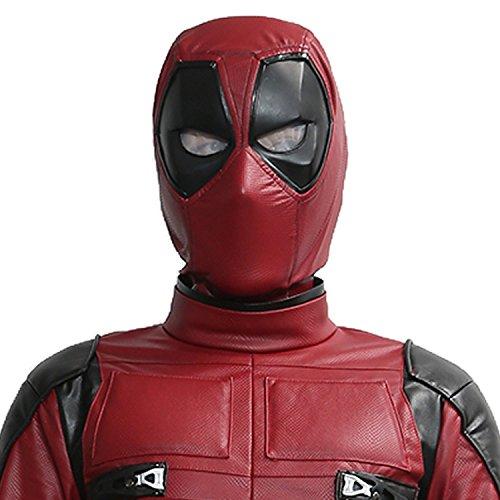 Pandacos Deadpool Maske Cosplay Mask Halloween Latexmaske Deluxe Vollkopfmaske Film Zubehör für Karneval und Fasching