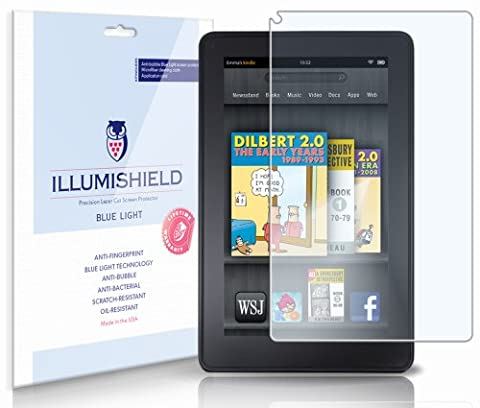 iLLumiShield - Amazon Kindle Fire (HD) Blue Light UV Filter