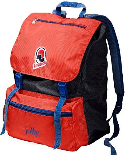 Zaino tempo libero e scuola INVICTA - JOLLY III VINTAGE - Blue Rosso original Porta PC