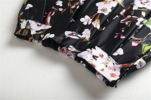 CoutureBridal® Damen Röcke Retro Sommerrock A-linie Röcke Elegant Faltenrock Knielang Rockabilly Farbe-120