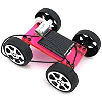 Price comparsion for Mini Solar Powered DIY Car Toy ,Mamum 1 Set Mini Solar Powered Toy DIY Car Kit Children Educational Gadget Hobby Funny (Red)