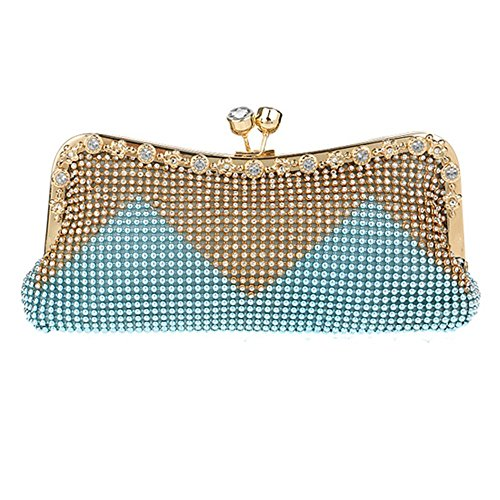Eysee, Poschette giorno donna Grigio argento 26.5cm*11cm*5cm blu