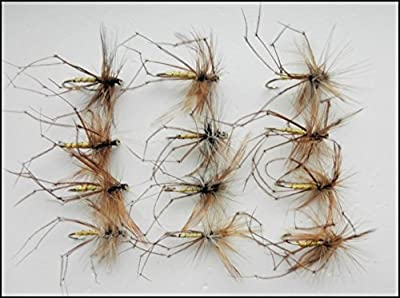 Daddy Long Legs Trout Flies, 12 Pack of Standard Daddys, Size 10/12, Fly Fishing by Troutflies UK