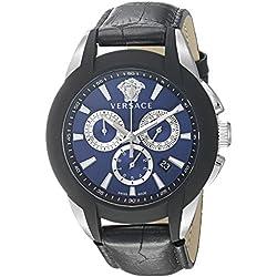 Versace Men's VQN010015 Character Analog Display Quartz Black Watch