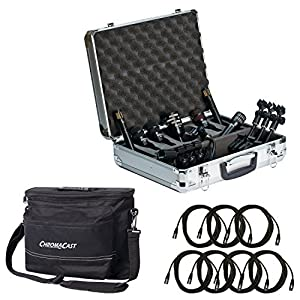 Audix DP7 7-piece drum mic pacchetto con 7 Chromacast 18.5 'mic cavi e musicista di Gear bag