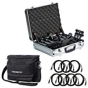 Audix DP77-piece drum mic pacchetto con 7Chromacast 18.5'mic cavi e musicista di Gear bag