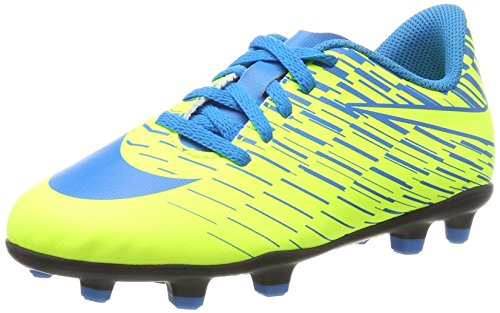 Nike Unisex-Kinder Bravata II FG Fußballschuhe, Gelb (Volt/Blue Orbit-Blue Orbit), 37.5 EU (Nike Für Schuhe Gelbe Kinder)