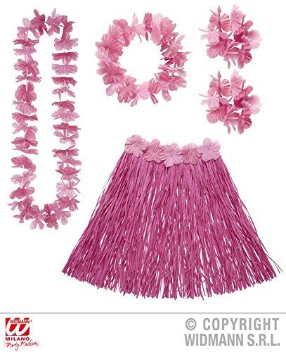 5 - teiliges HAWAII - SET pink / rosa, Suedsee Luau Aloha Karibik Beach (Kostüme Party Beach Karibik)