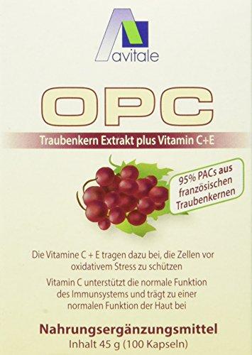 Avitale OPC Traubenkern Vegi-Kapseln - Hochdosiert, 100 Stück