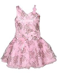 Chipchop Kids Girls Partywear Pink Printed Net Dress - 6 Months, 12 Months, 1 Year, 2 years, 3 Years, 4 Years, 5 Years