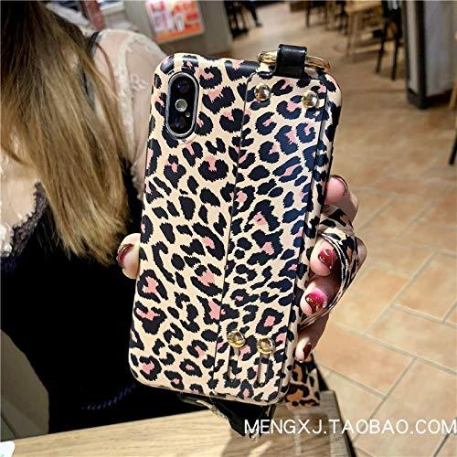 GUYISJK Mobile Phone Case Leopard Armband Halterung Tide Marke Damen Handytasche, Xr Handgelenk Mit Leopardenmuster, 6,1 Zoll (Iphone Case Plus 6 Mit Prints)