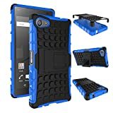 pinlu Coque pour Sony Xperia Z5 Compact (4.6 Pouce) Smartphone Double Couche Rugged 2...