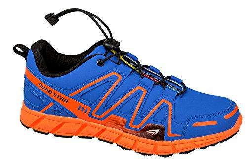 GIBRA® Sportschuhe, sehr leicht und bequem, blau/neonorange, Gr. 36-41 blau/neonorange