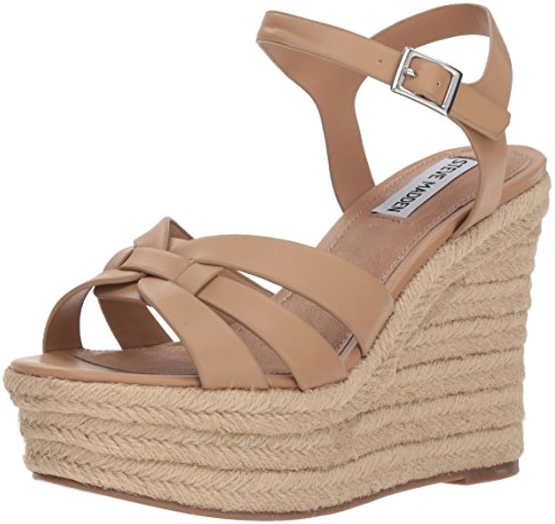 Steve Madden Wouomo Knight Wedge Sandal, Tan, Tan, Tan, 10 M US | Eleganti  c5e600
