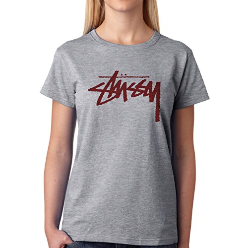 Stussy Oldschool Red Hypster Style Signature Original Denim Edition Small Donne T-Shirt