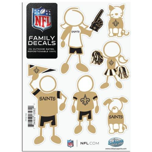 Siskiyou NFL New Orleans Saints Small Family Aufkleber-Set