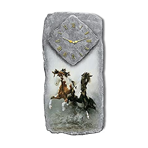'Spirit Of The Wild' Western Style Wall Clock Features Chuck
