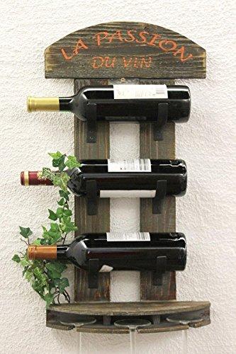 DanDiBo Weinregal Wandregal 5091 aus Holz 60 cm Weinbar Bar Flaschenhalter Flaschenregal
