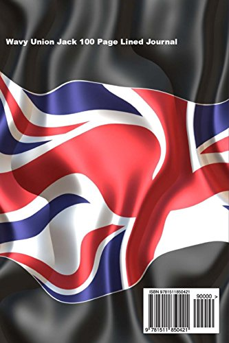 Wavy Union Jack 100 Page Lined Journal: Blank 100 page lined journal for your thoughts, ideas, and inspiration