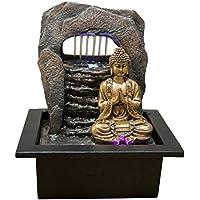 Zenu0027Light Bouddha Zen Dao Fontaine, Résine, Bronze, 21 X 17 X