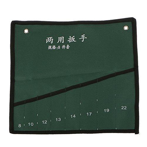 8-Tasche Leinwand Schraubenschlüssel Werkzeug Rollen Speicher Beutel Organisatorfall Rollen-werkzeug-tasche