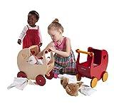 MOOVER Maxi Puppenwagen natur aus Holz / dolls pram natural