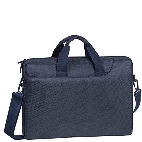 """RIVACASE Tasche für Notebooks bis 15.6"""" – Sehr kompakte Laptoptasche mit gepolsterten Wänden und Zubehörfächern – Dunkelblau"""