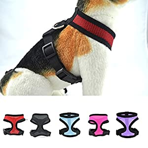 Harnais pour chien ensemble - Animaux Mesh couverture de harnais, Noir / Bleu / Rose / Violet / Rouge
